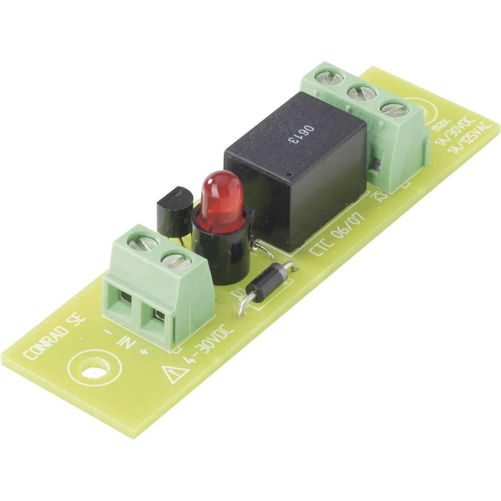 Tiskano vezje za rele REL-PCB43, z relejem, 24 V/DC, 1 x preklopni kontakt, 50 W/110 VA Conrad