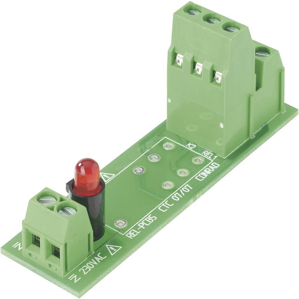 Relejna ploča REL-PCB5 Conrad bez releja 0 230 V/AC 2 izmjenična kontakta maks. 2 x 8 A/250 V/AC