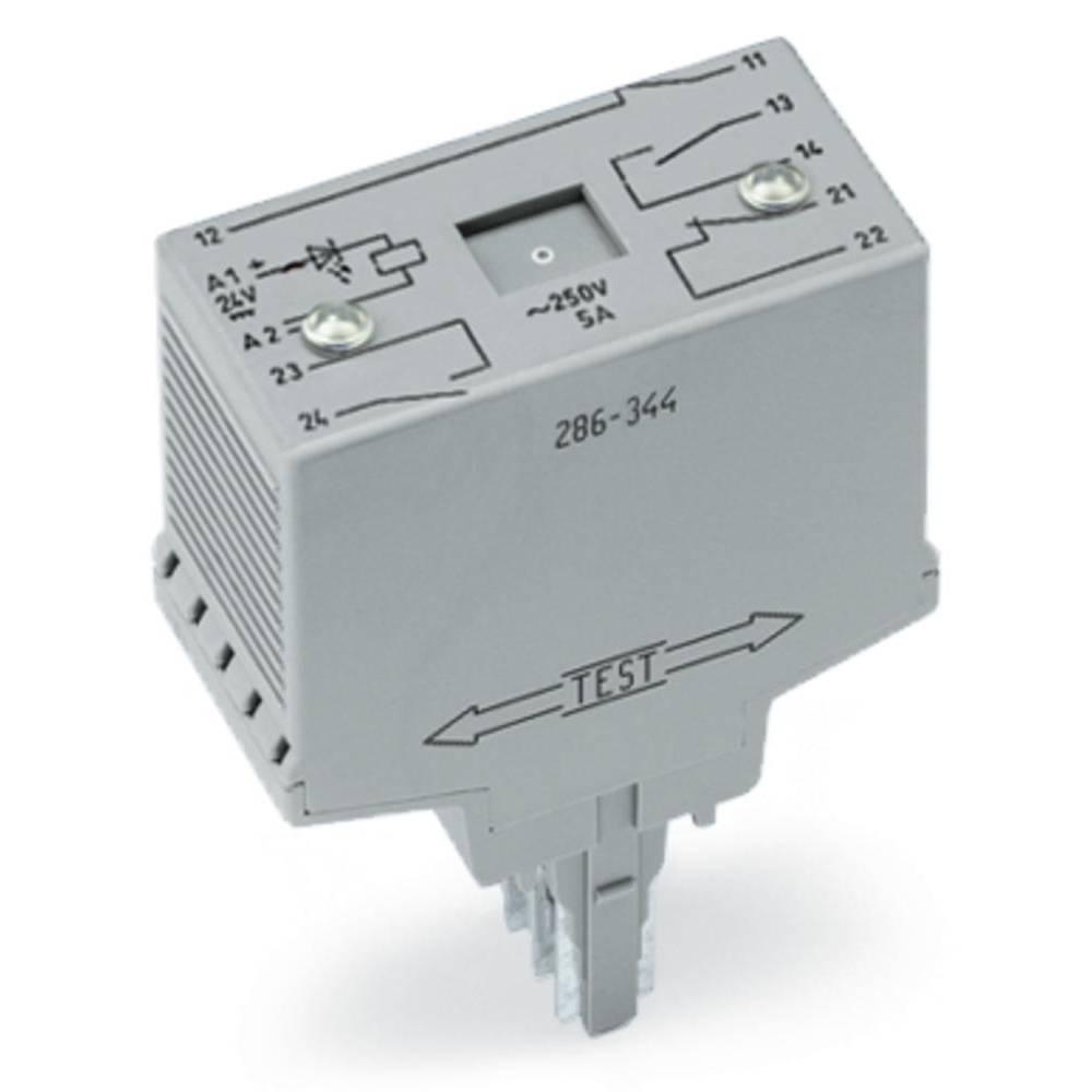 Vtični releji 24 V/DC 2 odklepa, s tremi zaklepi WAGO 286-344/004-000 1 kos