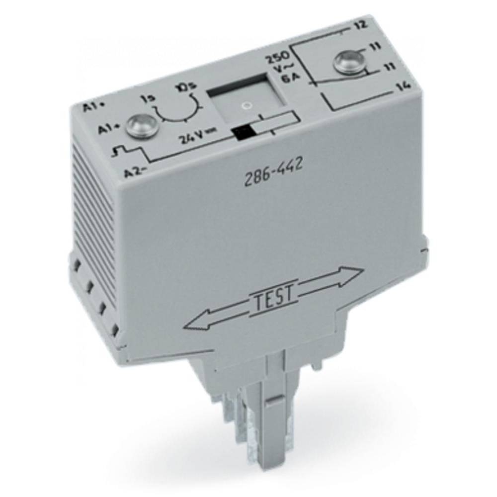 Časovni-relejski modul WAGO 286-442 1 x preklopni , nazivna napetost 250 V