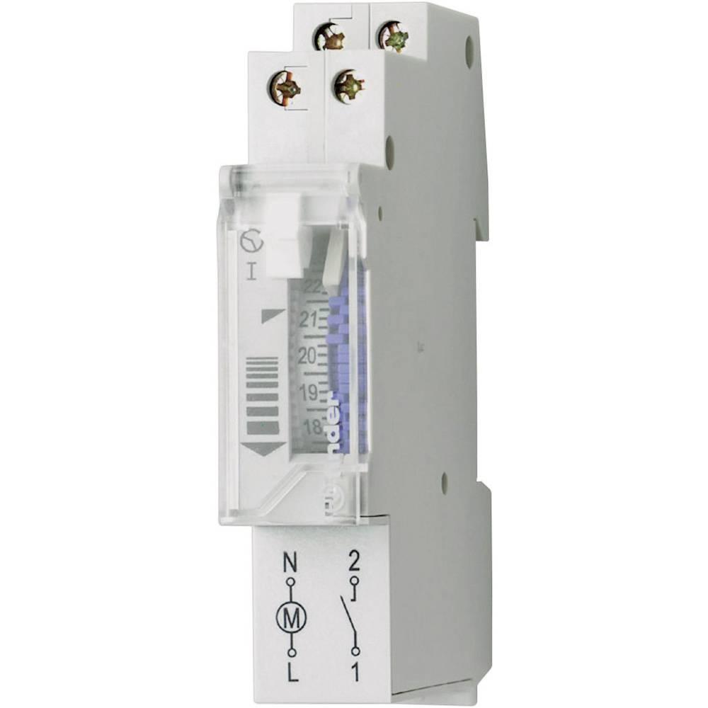 Uklopni sat za profilnu šinu 12.11.8.230.0000 Finder radni napon: 230 V/AC 1 otvoreni kontakt 16 A 250 V/AC motorni pogon, dnevn
