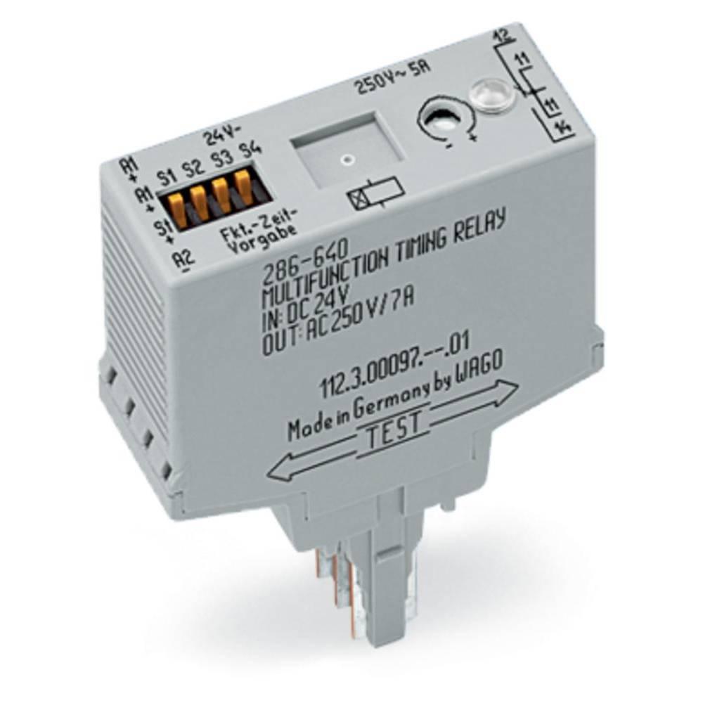 Večnamenski časovni-modul WAGO 286-640 1 x preklopni , nazivna napetost 250 V