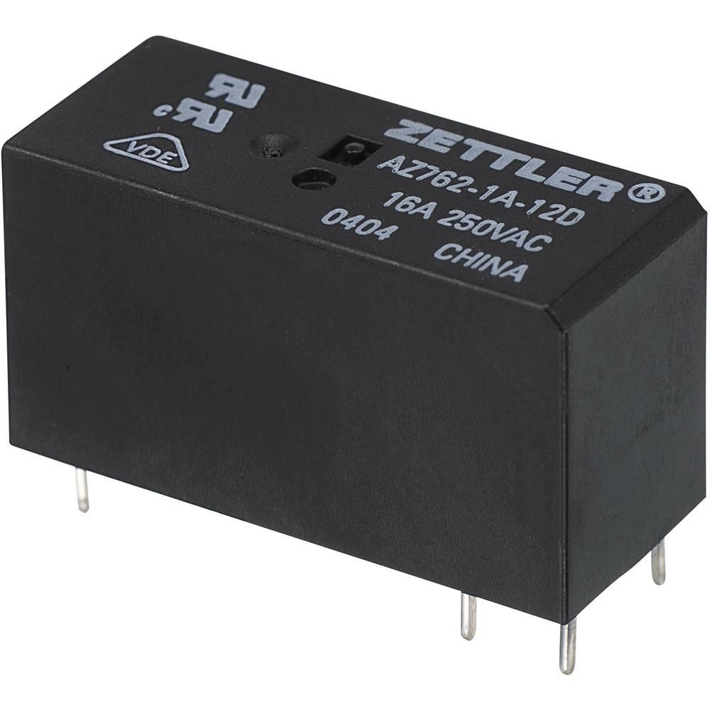 Miniaturni snažan relej AZ762, 16 A Zettler Electronics AZ762-1A-12DE 12 V/DC