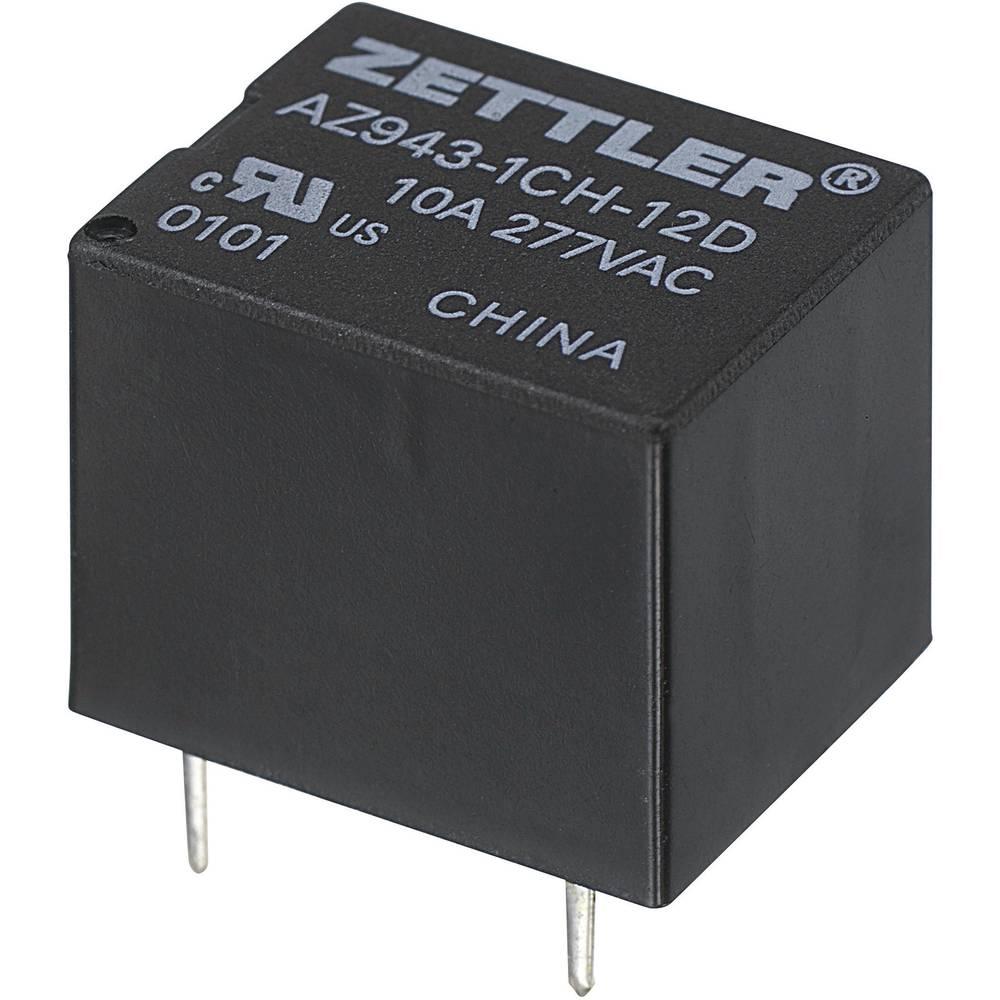 Miniaturni relej za tiskanu pločicu Zettler Electronics AZ943-1CH-12DE, 12V/DC, maks. 15 A