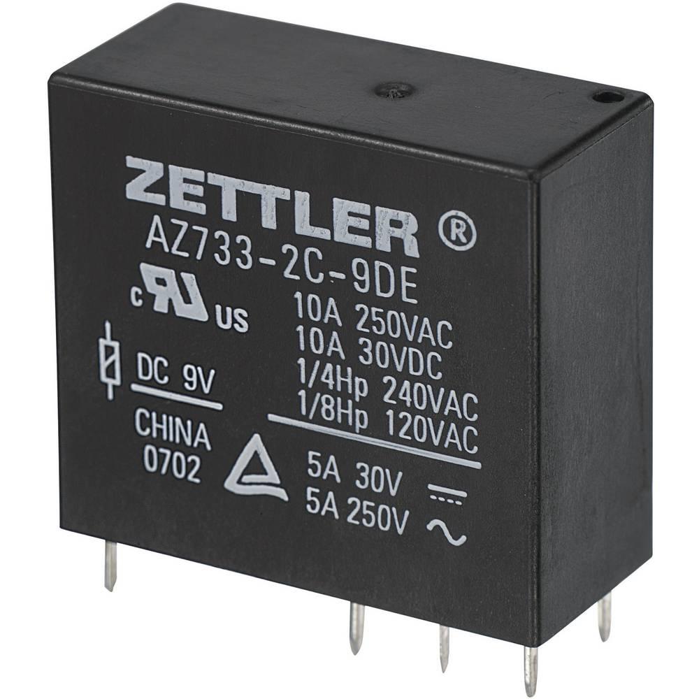 Miniaturni snažan relej AZ733, 10 A Zettler Electronics AZ733-2C-9DE 9 V/DC