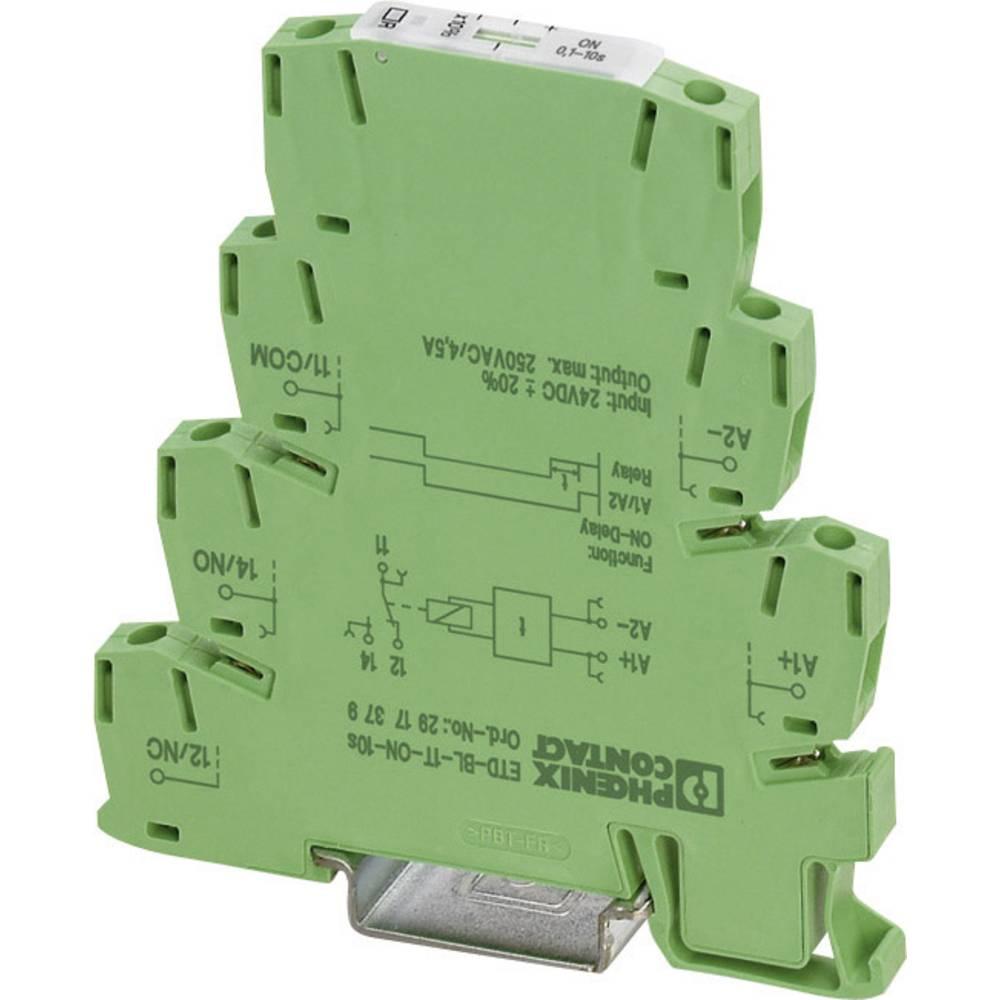Časovni rele, monofunkcijski 24 V/DC 1 kos Phoenix Contact ETD-BL-1T-ON-300MIN časovno območje: 3 - 300 min 1 izmenjevalnik