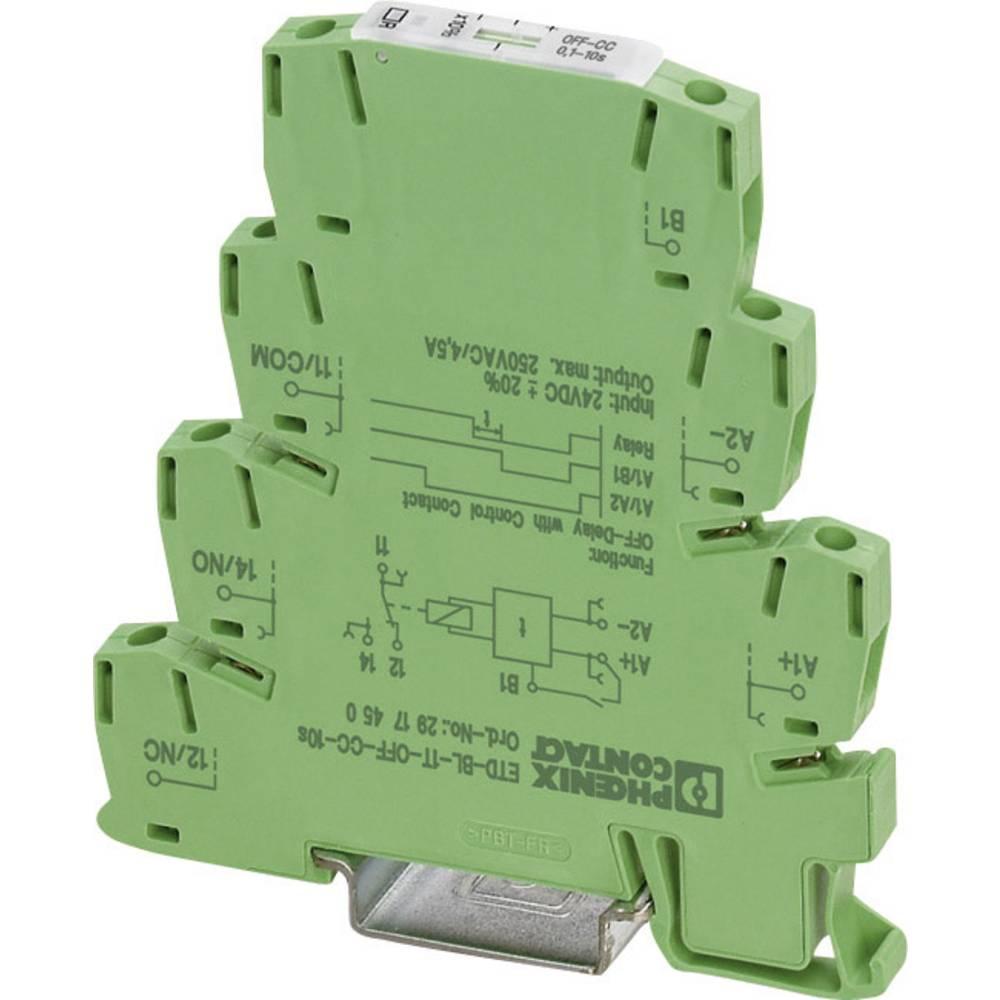 Tidsrelæ Phoenix Contact ETD-BL-1T-OFF-CC-300S Monofunktionel 24 V/DC 3 - 300 s 1 x skiftekontakt 1 stk