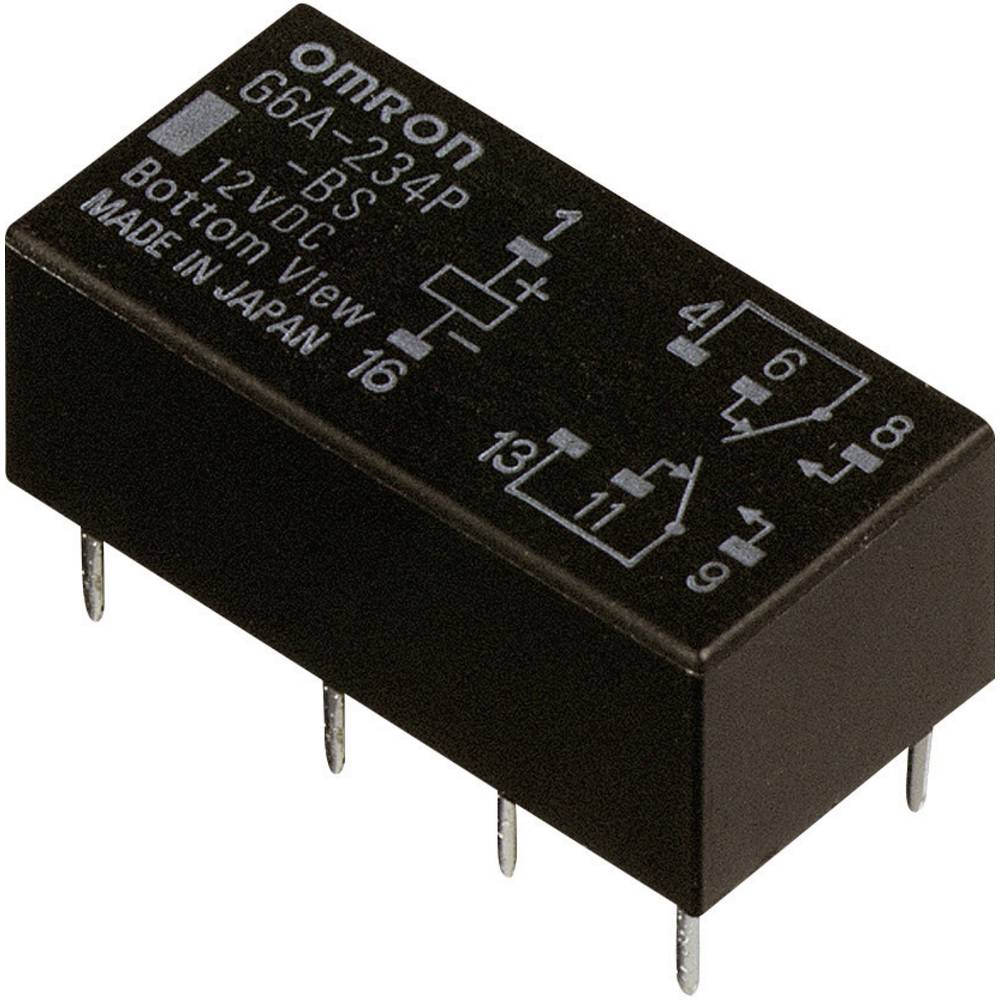 Printrelais (value.1292897) 5 V/DC 2 A 2 Wechsler (value.1345274) Omron G6A-274P-ST-US 5 VDC 1 stk