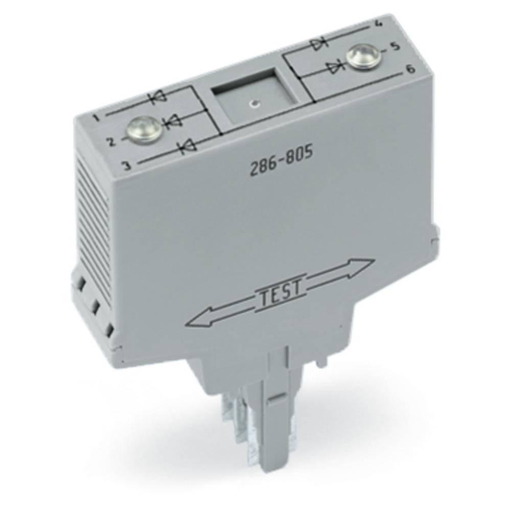 Diode komponent 1 stk WAGO 286-803 Passer til serie: Wago serie 280 Passer til model: Wago 280-608, Wago 280-618, Wago 280-762