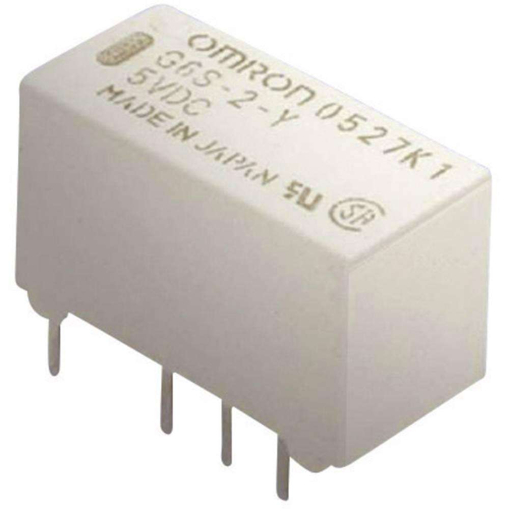 Izjemno majhen signalni rele Omron G6S-2 12 VDC, 12 V/DC, 2xpreklopni kontakt, maks. 2 A