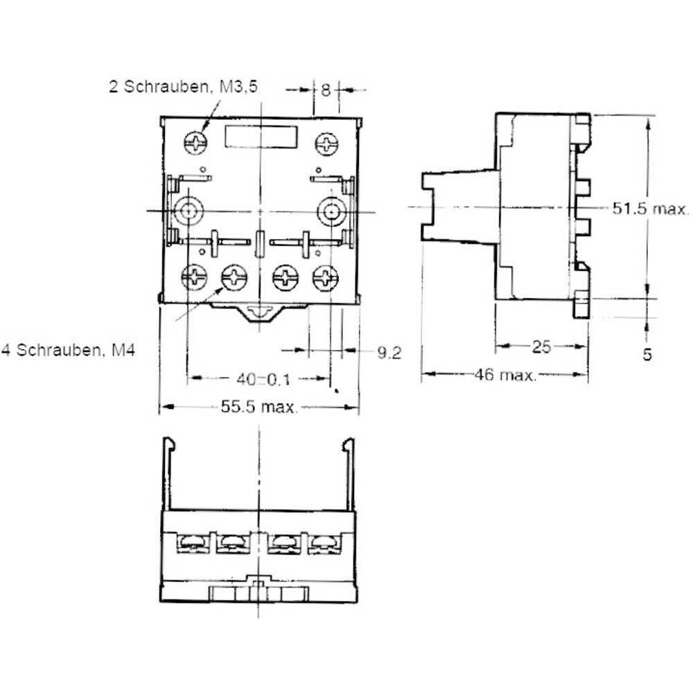 Relaissockel (value.1292916) 1 stk Omron P7LF-06 Passer til serie: Omron serie G7L (L x B x H) 55.5 x 56.5 x 35.2 mm