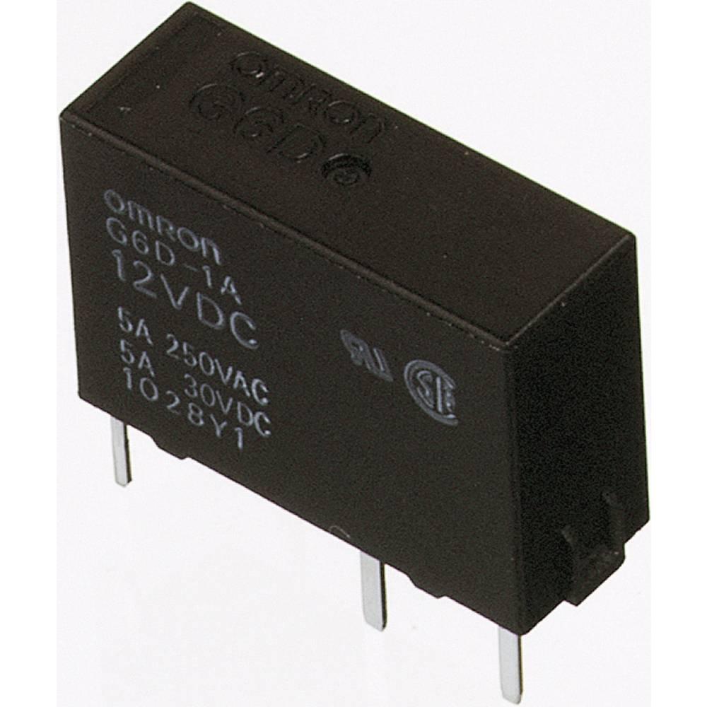 PCB snažan relej G6D, 1 zapiralo, 5 A Omron G6D-1A-ASI 5DC 5V/DC 1 zapiralo 1250 VA