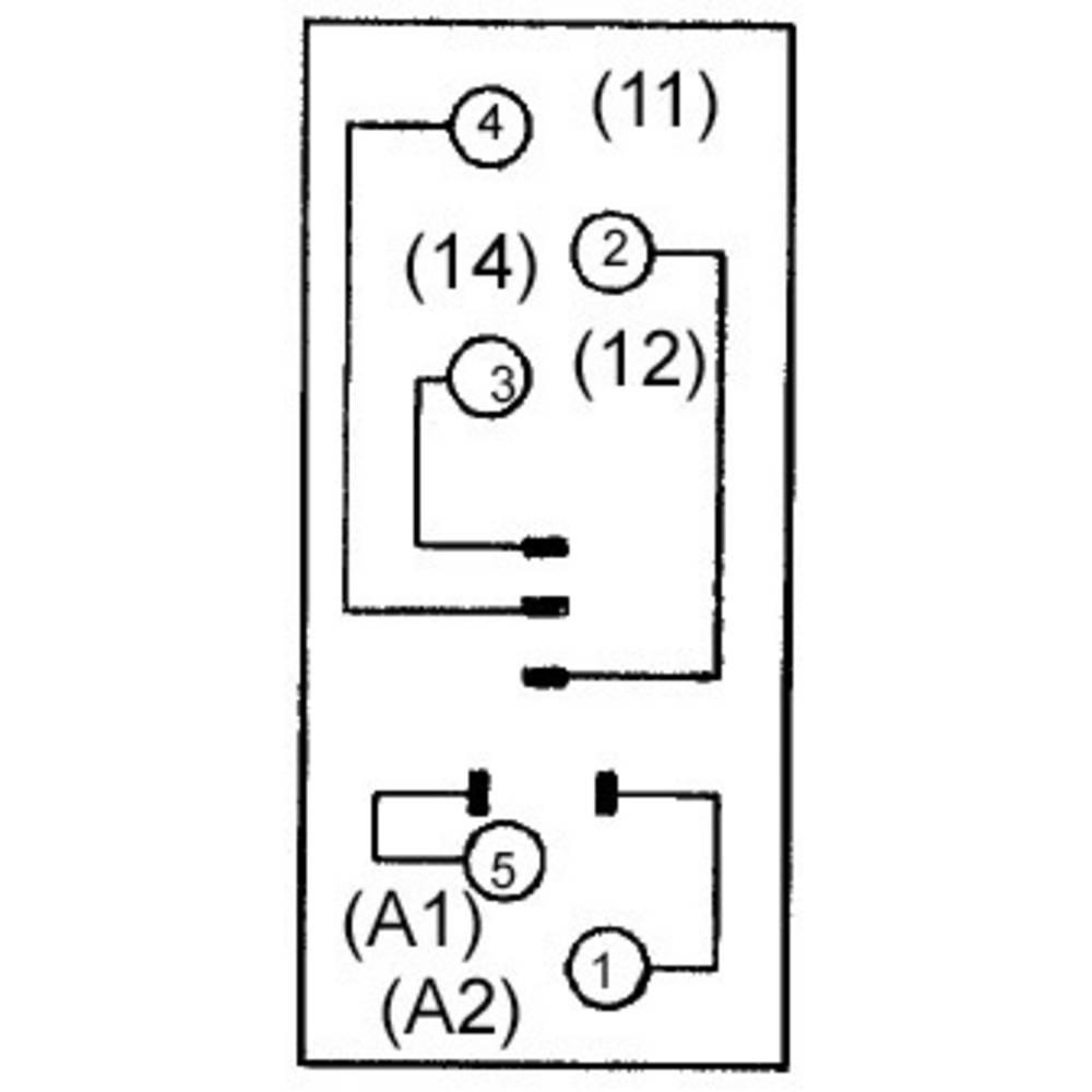 Podnožje releja 1 kos Omron P2RF-05E primerno za serijo: Omron serija G2R