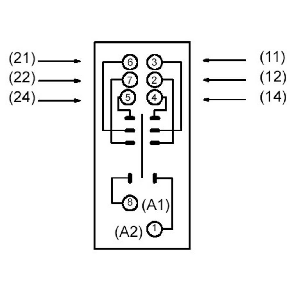 Podnožje releja 1 kos Omron P2RF-08E primerno za serijo: Omron serija G2R
