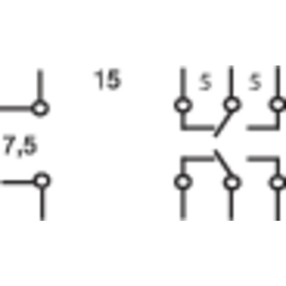 Printrelæ 230 V/AC 5 A 2 x omskifter Omron G2R-2-230V 1 stk