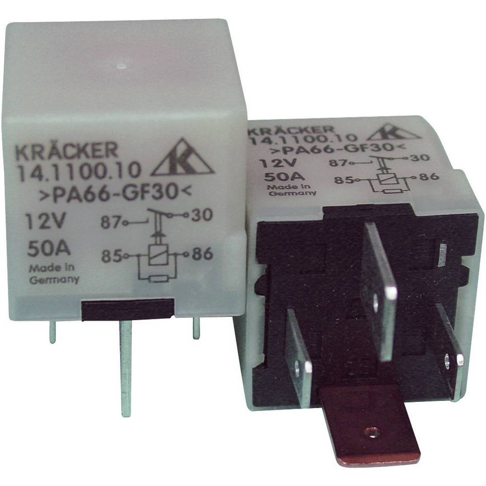 Avtomobilski rele Kräcker prva vgradnja - original 14.1100.10 12 V/DC 1 x EIN 40 A 60 V/AC / 75 V/DC