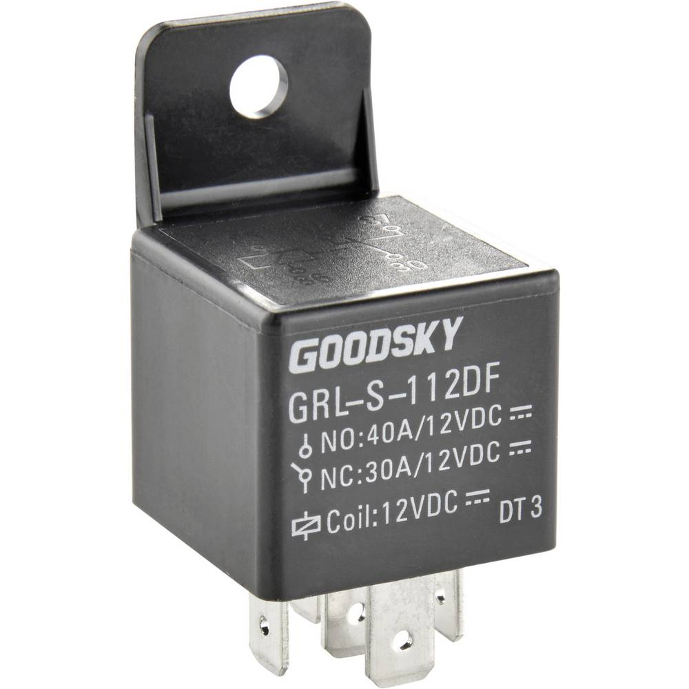 Kfz-Relais (value.1292934) 12 V/DC 40 A 1 Wechsler (value.1345271) GoodSky GRL-S-112DF