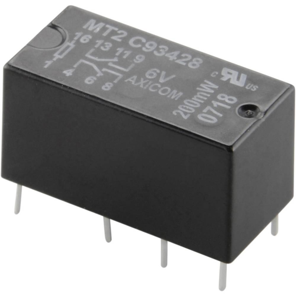 Rele za tiskano vezje 12 V/DC 2 A 2 preklopni TE Connectivity C93418 1 kos
