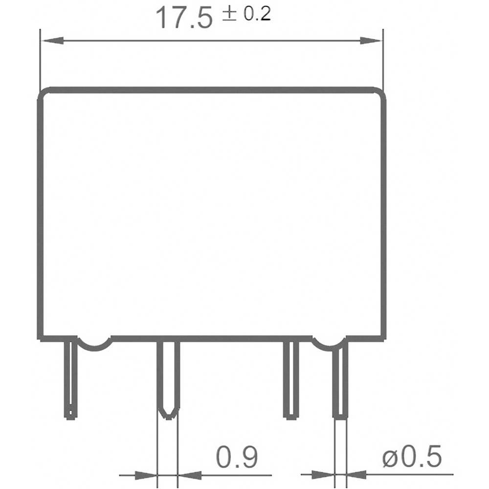 Relej za automobile FRA11DC-S1-DC12V, 12 V/DC, 2 preklopna kontakta, 20 A, 14 V/DC Hongfa