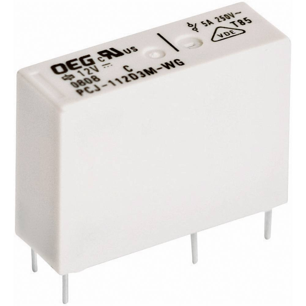 Printrelais (value.1292897) 12 V/DC 5 A 1 Schließer (value.1345270) TE Connectivity PCJ-112D3M-WG 1 stk