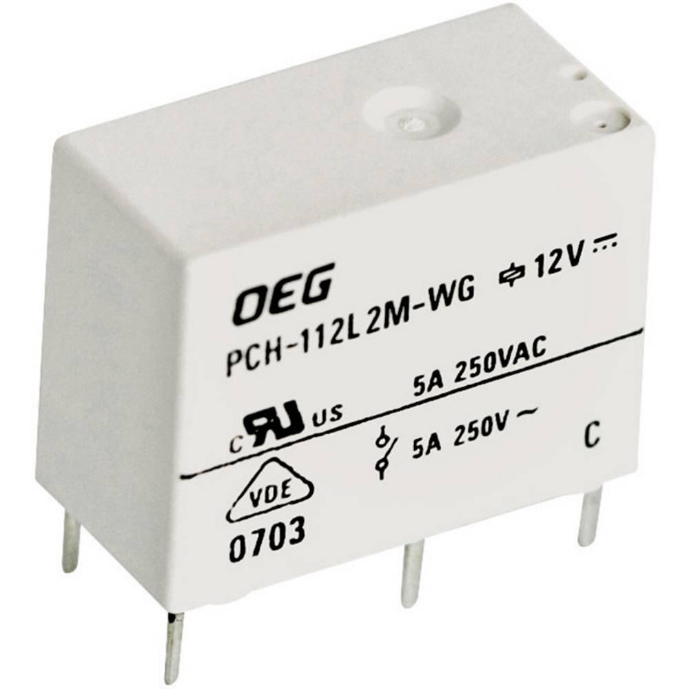 Miniaturni snažan relej za tiskanu pločicu TE Connectivity PCH-112L2M-WG, 12 V/DC, 5 A 1721768-5