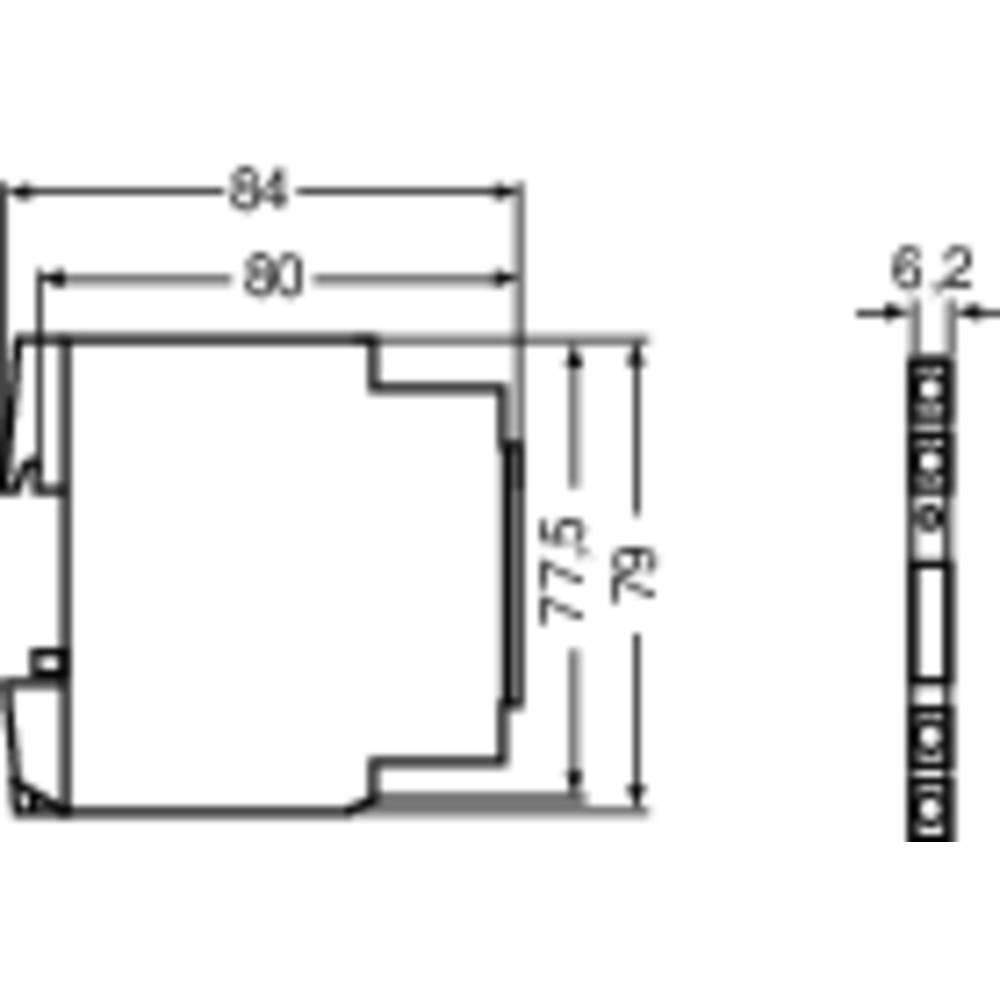 Vmesniški rele Microcompact Lütze RE-6-0022 24 V DC 1 izmenjevalnik (AC/DC) 6 A 1 kos