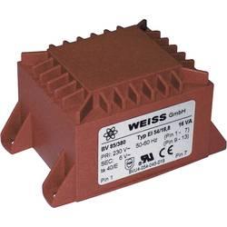 Printtransformator 1 x 230 V 1 x 18 V/AC 16 VA 889 mA 85/384 Weiss Elektrotechnik