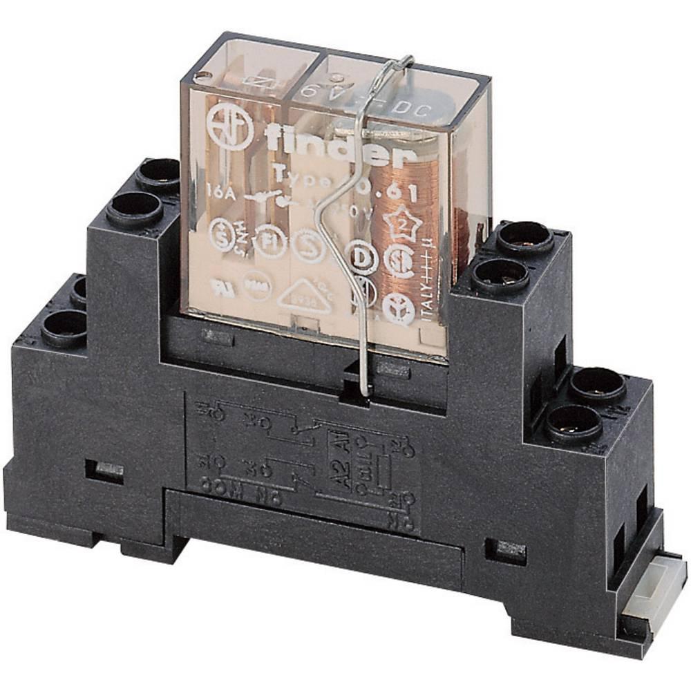 Relaissockel (value.1292916) med holdebøjle 1 stk Finder 95.65M (L x B x H) 15.6 x 63.1 x 33.3 mm