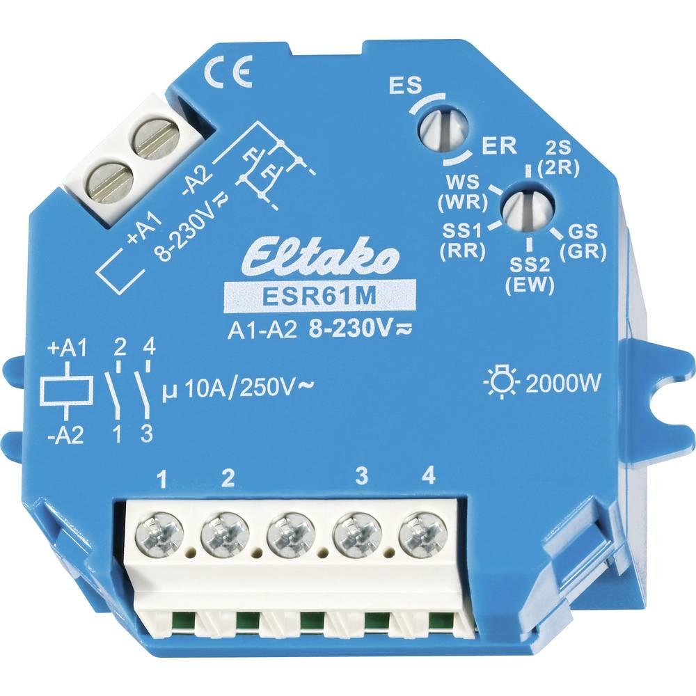 Nadometni/podometni impulzni rele ESR61M, 1 + 1 vklopni kontakt, 10 A Eltako ESR61M 8-230 61200301