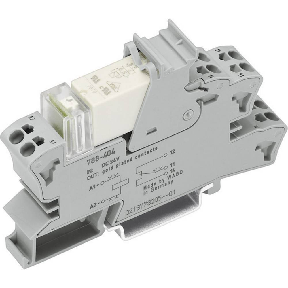 Relaisbaustein (value.1292895) 1 stk WAGO 788-615 Nominel spænding: 115 V/AC Brydestrøm (max.): 8 A 2 Wechsler (value.1345274)