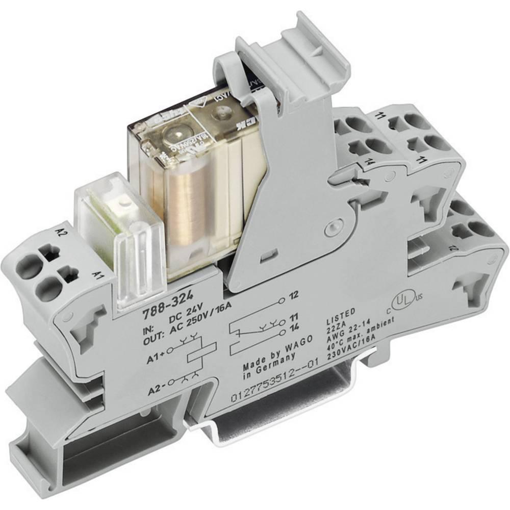 Vtično podnožje z varnostnim relejem SR2M WAGO 788-384 2 x preklopni kontakt