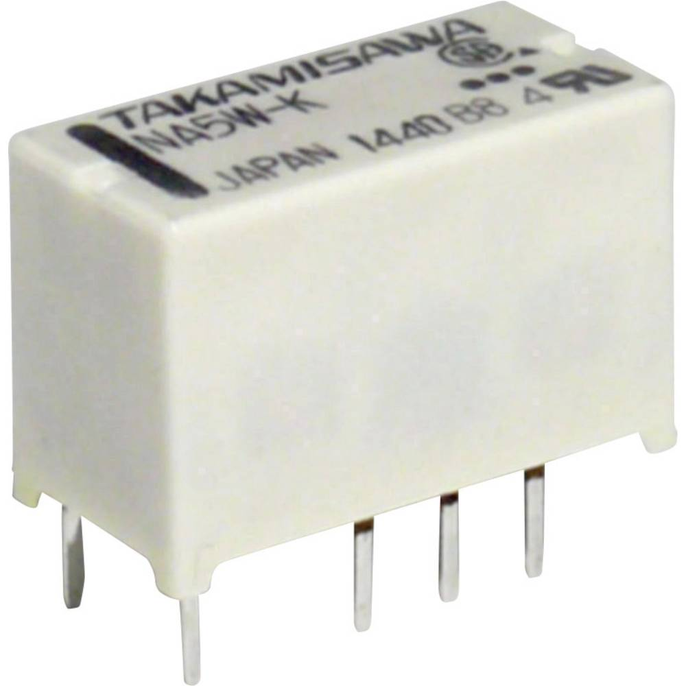 Takamisawa NA24WK24V PCB Mount Relay, Subminiature 24V 2 CO, DPDT