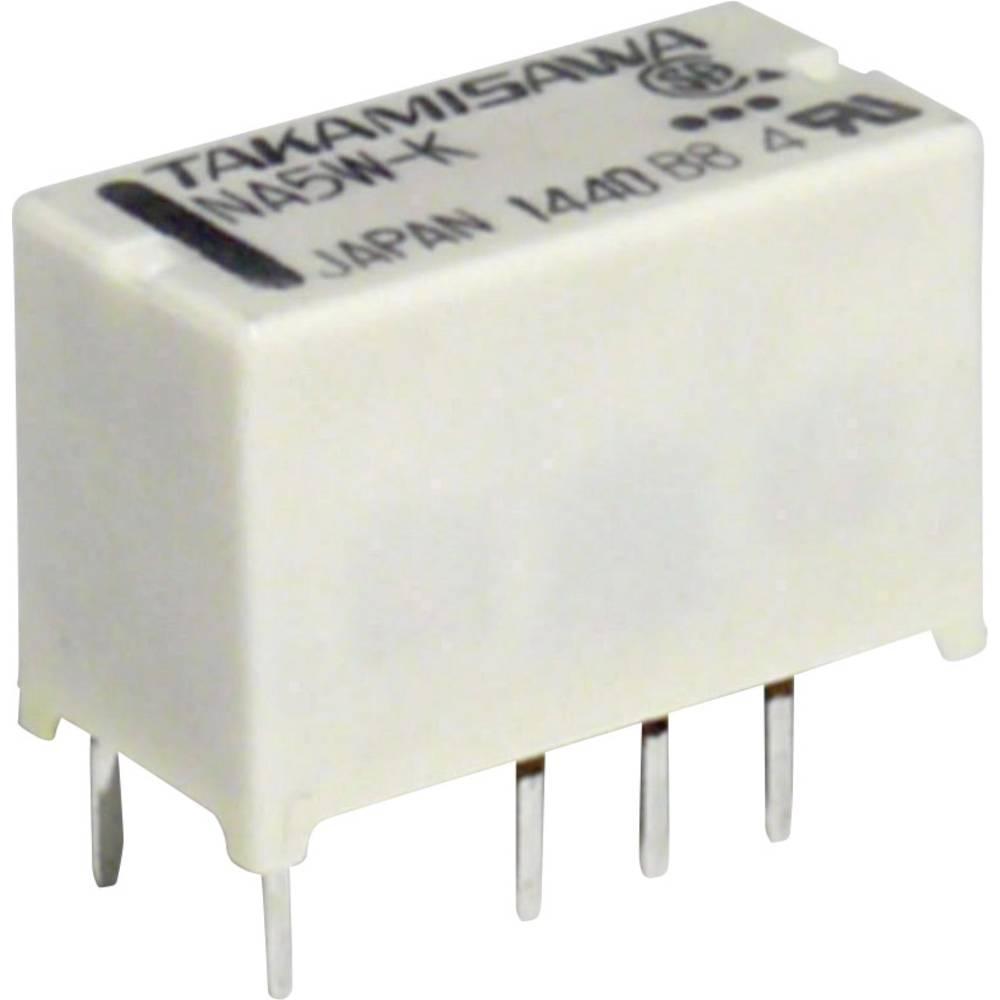 Subminiaturni rele 12 V 2 x izklopni kontakt maks.1.25 A maks.110 V/DC/125 V/AC 62,5 VA/30 NA24WK24V Takamisawa