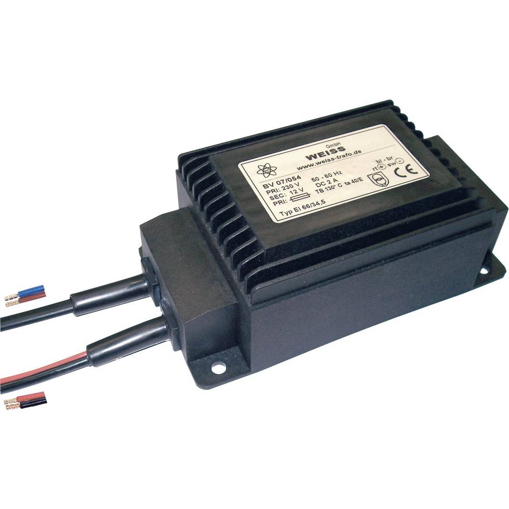 Kompaktni napajalnik z vgrajenim usmernikom in izravnavanjem12 V/DC 5.0 A, Weiss Elektrot 07/056 Weiss Elektrotechnik