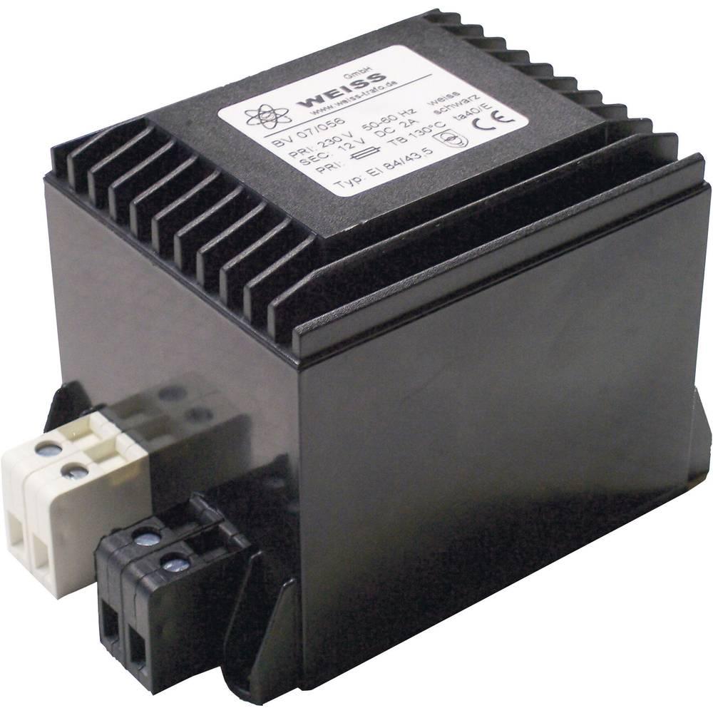 Kompaktni napajalnik z vgrajenim usmernikom in izravnavanjem12 V/DC 2.0 A, Weiss Elektrot 07/058 Weiss Elektrotechnik