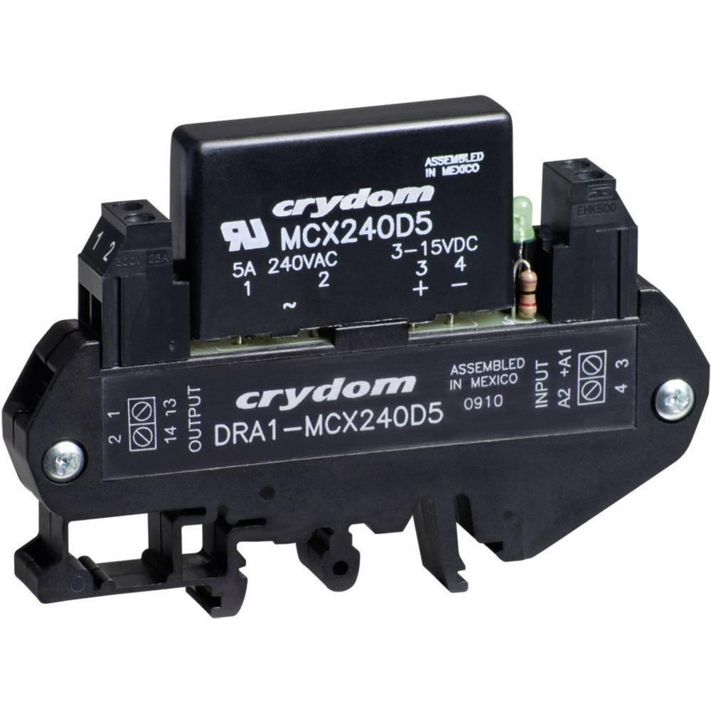AC polprevodniški rele za montažo na DIN-letev DRA1 Crydom DRA1-MCXE380D5 Tok bremena 0.06