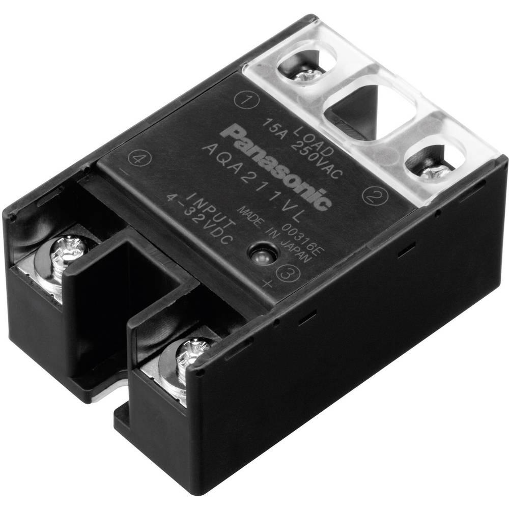 Polprevodniški rele 1 kos Panasonic AQA411VL bremenski tok (maks.): 25 A preklopna napetost (maks.): 250 V/AC Nullspannungsschal