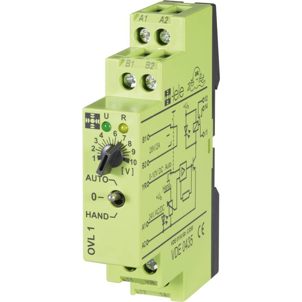 Preklopni modul TELE tele OVL1 24 V/AC/DC 0 - 10 V 1 izmenjevalnik 5 A 1 kos