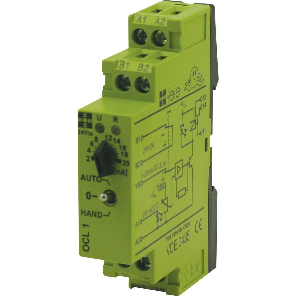 Preklopni modul TELE tele OCL1 24 V/AC/DC 0 - 20 mA 1 izmenjevalnik 5 A 1 kos
