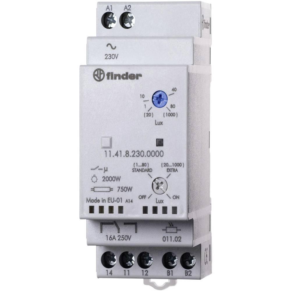 Dämmerungsschalter (value.1444820) 1 stk Finder 11.41.8.230.0000 Driftsspænding (num):230 V/AC Følsomhed lys: 1, 30 - 80, 1000 l