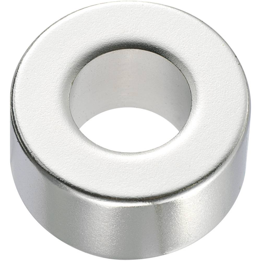 Okrogli magnet NdFeB z luknjo,(premer x V) 20 mm x 5 mm, N45, remanenca: 1,33-1,37 T Conrad