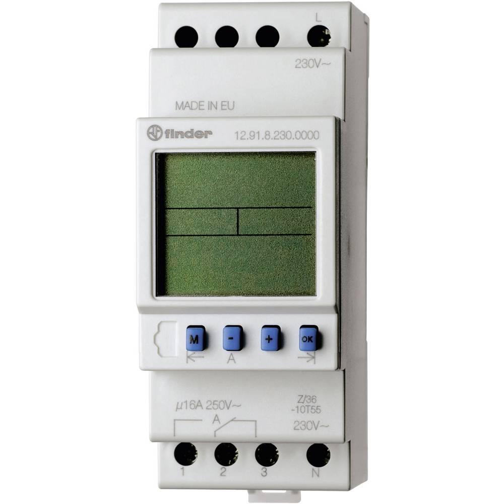 Zeitschaltuhr für Hutschiene (value.1452867) Driftsspænding (num): 230 V/AC Finder 12.91.8.230.0000 1 Wechsler (value.1345271) 1