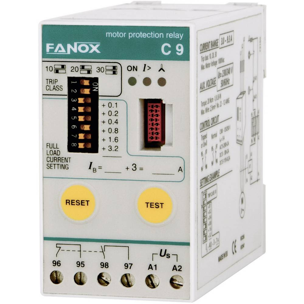 Fanox 11243 C45 Motor Protection Relay, Basic Protection