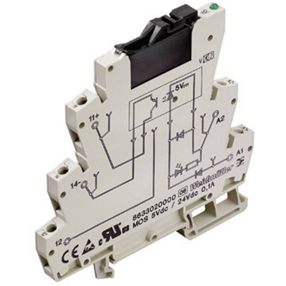 Optospojnik Weidmller Microseries MOZ 120Vuc / 24Vdc 2A, vhries MOZ 120Vuc / 24Vdc 2A, vh 8607740000