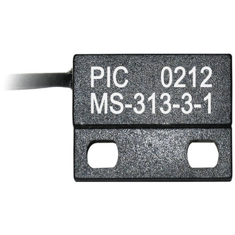 Reed senzor v ploščatem ohišju PIC MS-313-3, 1 x delovni k., 0,5 A, 150 V/DC, 120 V/AC