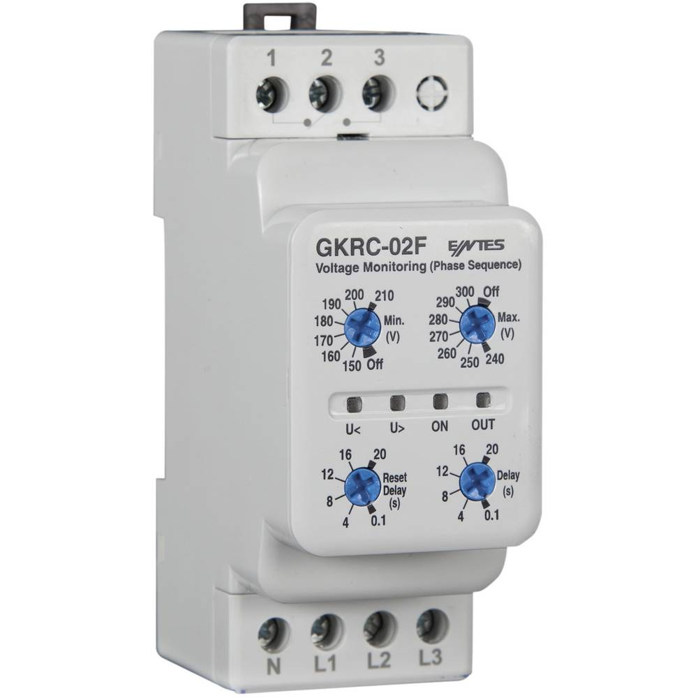 GKRC-02F voltage monitoring relay ENTES® GKRC-02F Contact type SPDT-CO (8 A)