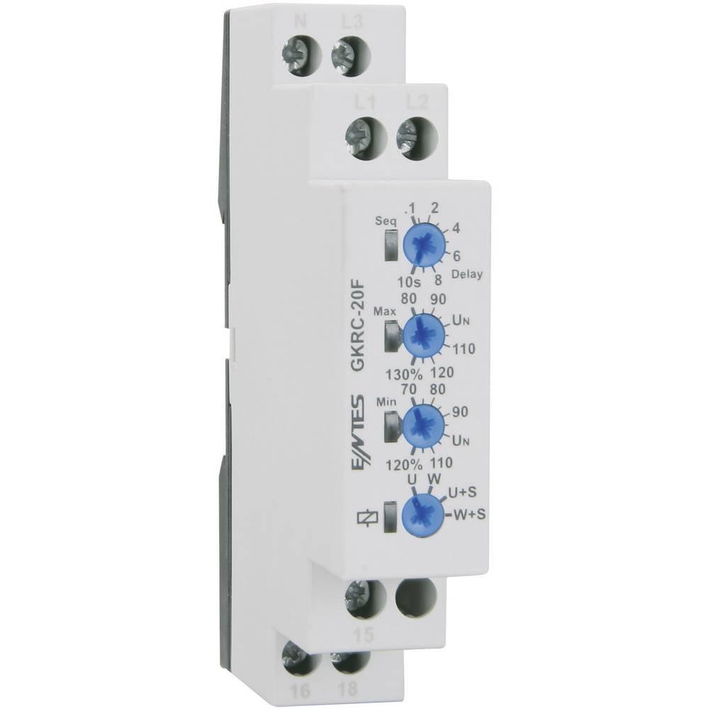ENTES® GKRC-20F-Relej za nadzor napona, 1 preklopni kontakt, 8 A