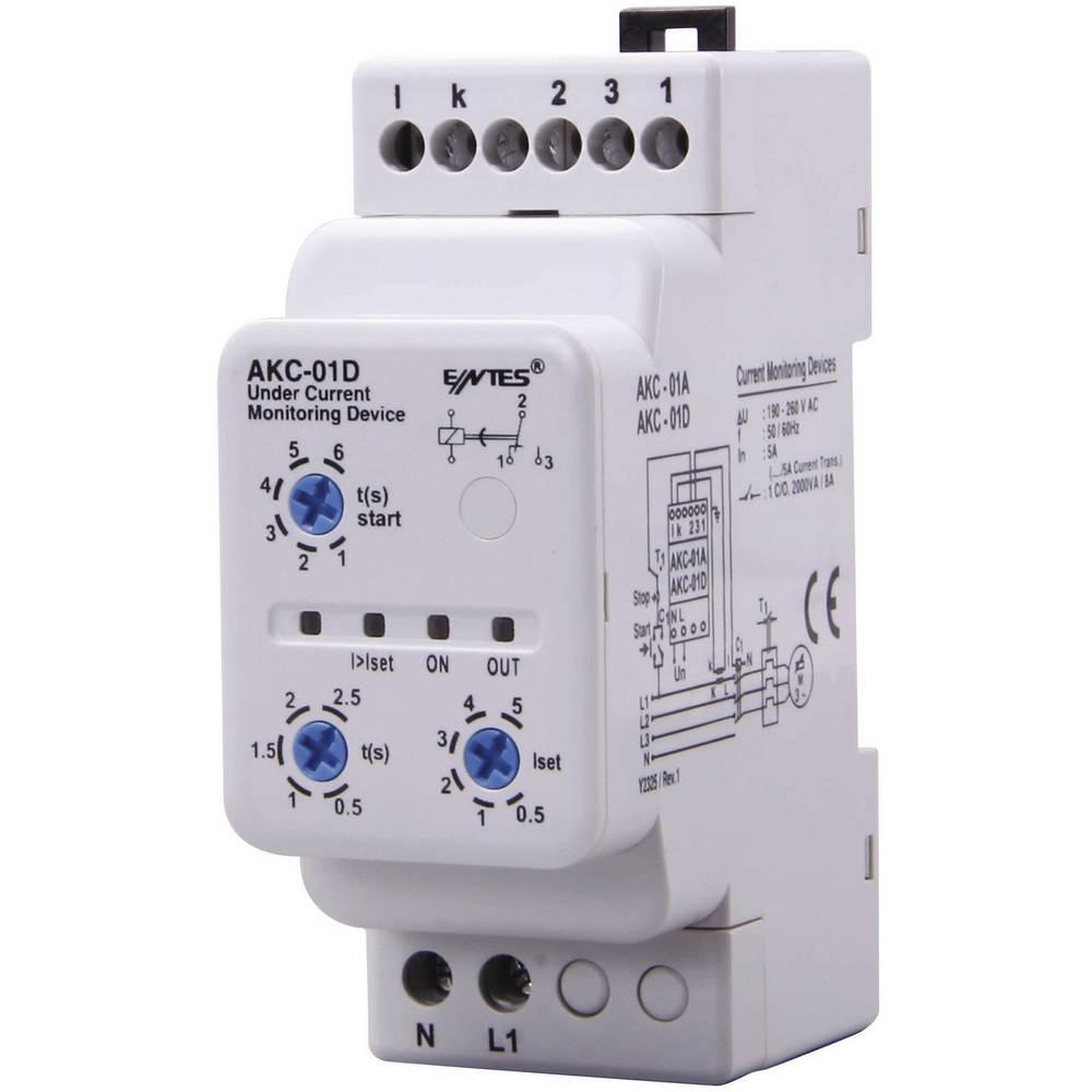 ENTES® AKC-01D-Rele nadzora toka, 1 preklopni kontakt, 8 A