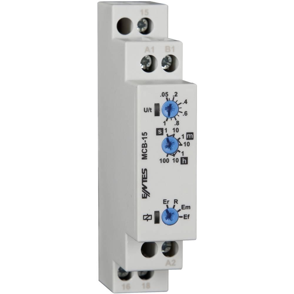 ENTES® MCB-15-Večfunkcijski časovni rele, 24-240V DC/AC, 1NC, 8A