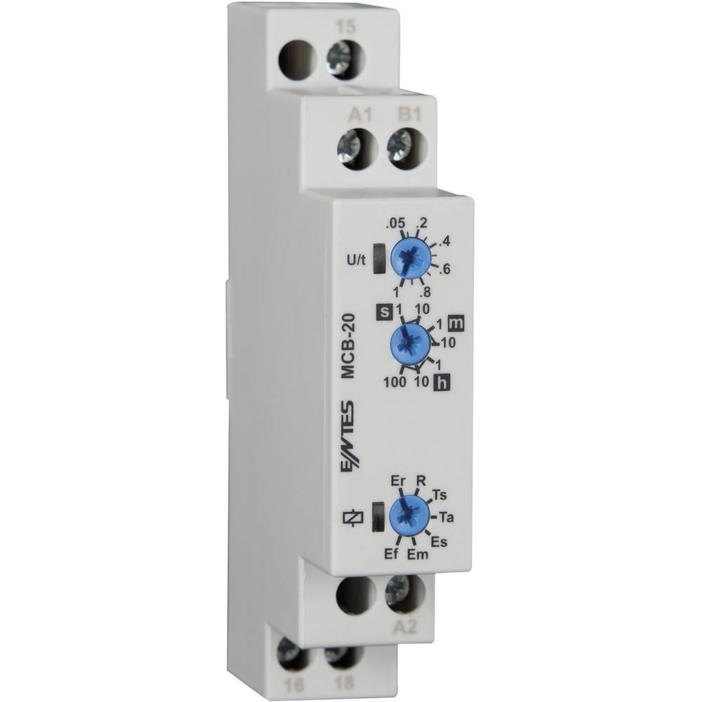 ENTES® MCB-20 Time Delay Relay, Timer, SPDT-CO (8 A) 24 – 240 V/DC/AC